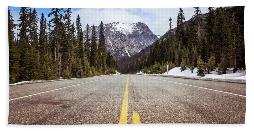 National Park Service Beach Towel featuring the photograph Highway 20 On Rainy Pass In North Cascades National Park by Astrid Hinderks