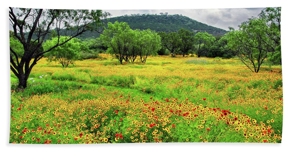 Coreopsis Beach Towel featuring the photograph Hill Country Wildflowers by Lynn Bauer