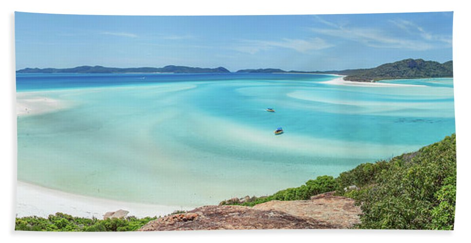 Australia Beach Towel featuring the photograph Hill Inlet Lookout by Az Jackson