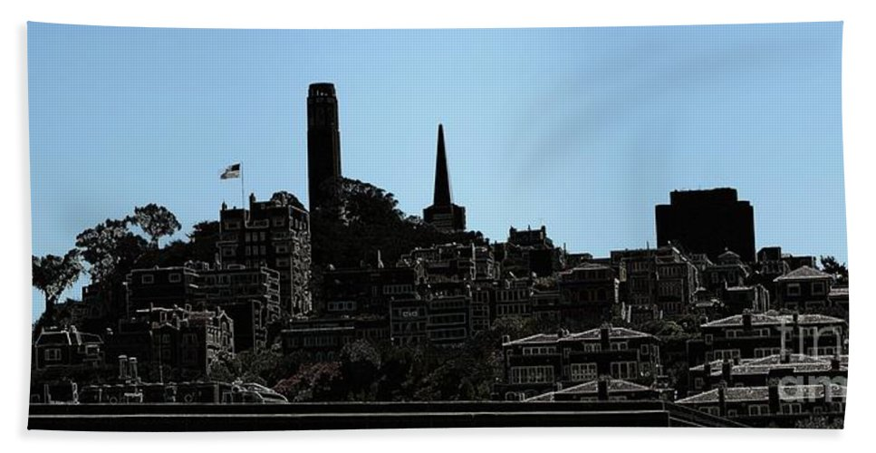 Cityscape Beach Towel featuring the digital art Hill Top by Ron Bissett