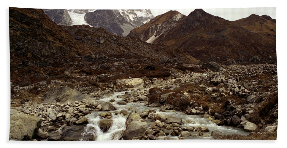 Himalaya Beach Sheet featuring the photograph Himalaya by Patrick Klauss