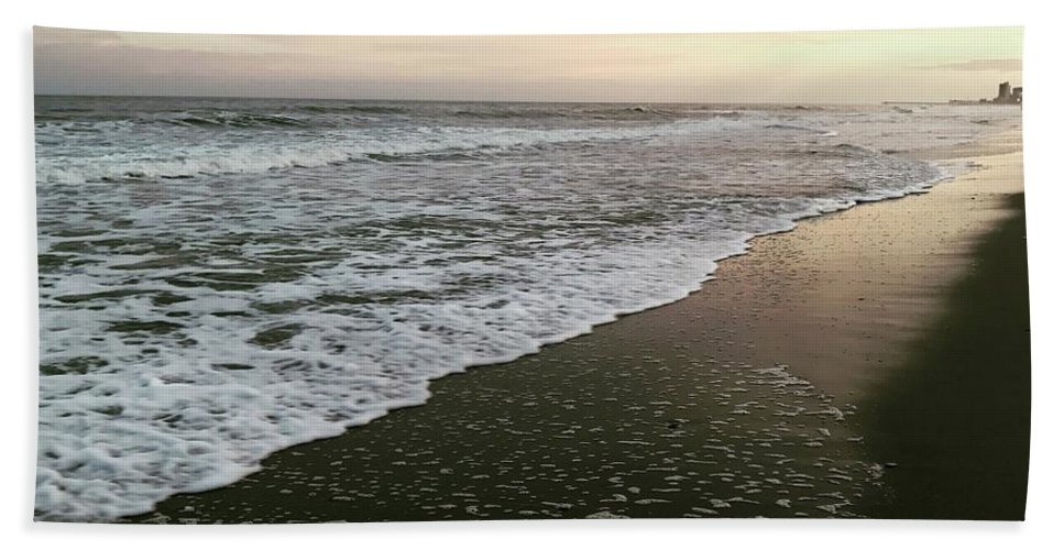 Ocean Beach Towel featuring the photograph His Peace by Melissa Golden