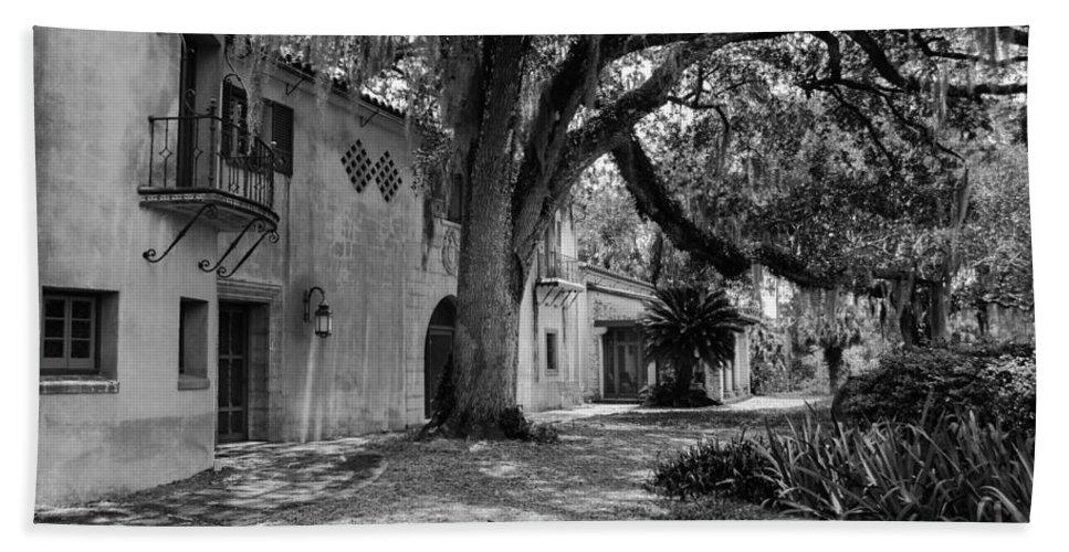 susan Molnar Beach Towel featuring the photograph Historic Bok Gardens Home by Susan Molnar