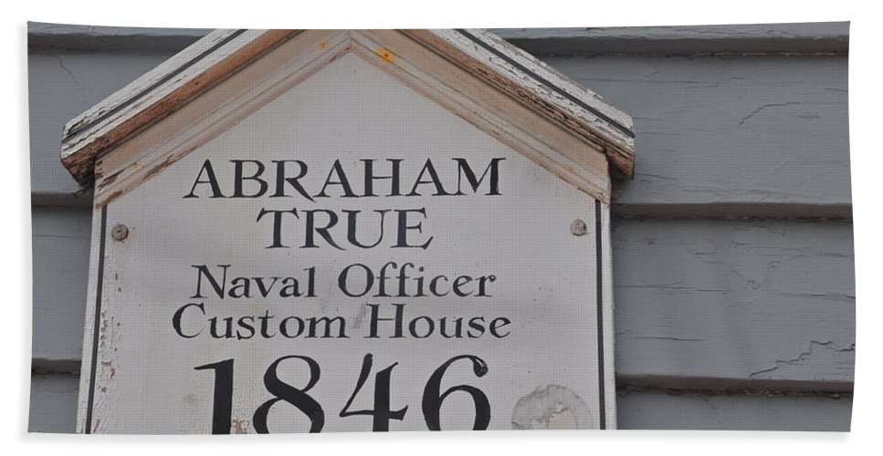 Abraham True Beach Towel featuring the photograph Historic Salem Naval Officer by Brittany Horton
