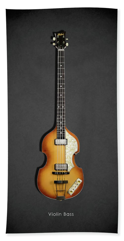 Hofner Violin Bass Beach Towel featuring the photograph Hofner Violin Bass 62 by Mark Rogan