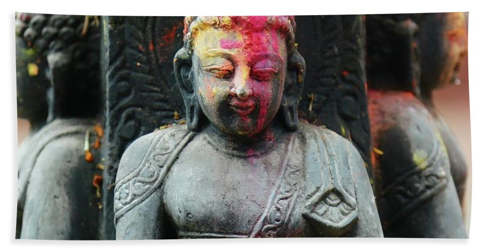 Nepal Beach Towel featuring the photograph Holi by Molly Leary