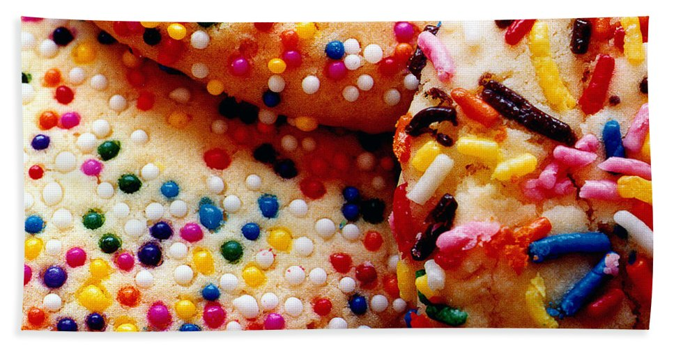 Cookie Beach Towel featuring the photograph Holiday Cookies by Nancy Mueller