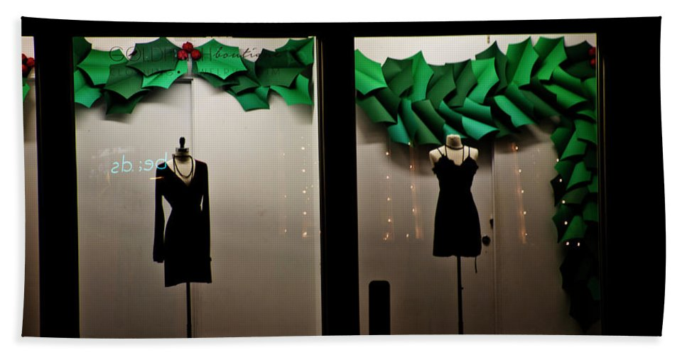 Display Window Beach Towel featuring the photograph Holiday Window Fashion by Gina O'Brien