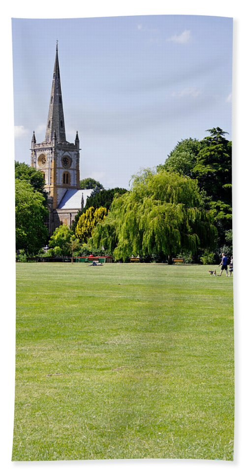 Europe Beach Towel featuring the photograph Holy Trinity Church At Stratford Upon Avon by Rod Johnson