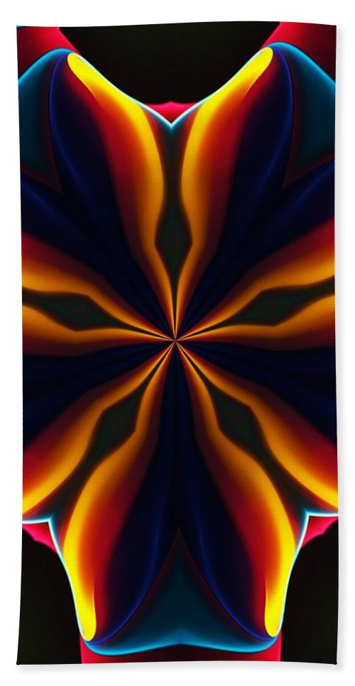 Abstract Beach Towel featuring the digital art Homage to Georgia O'Keeffe by David Lane