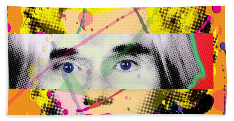 Digital Beach Towel featuring the painting Homage To Warhol by Gary Grayson