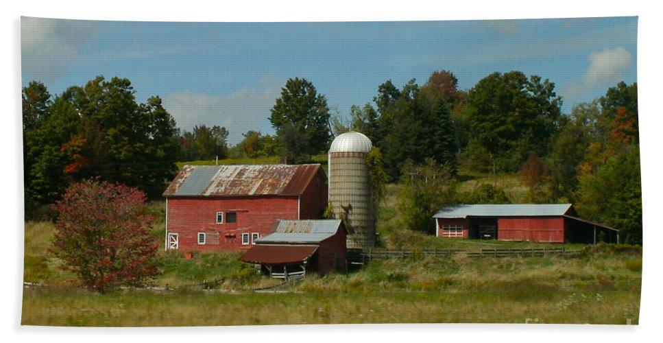 Farm Beach Towel featuring the photograph Home On The Farm by Rick Monyahan