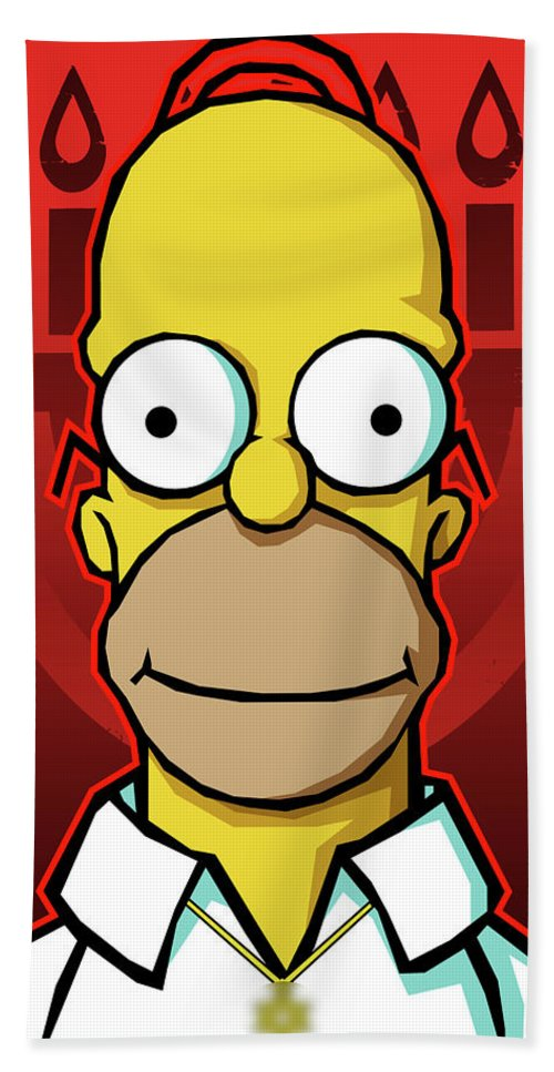 Homer Simpson Beach Towel For Sale By Geek Dissident