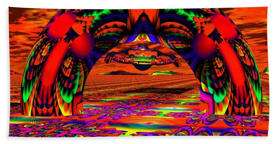 Psychedelic Beach Towel featuring the digital art Homeward Bound by Robert Orinski