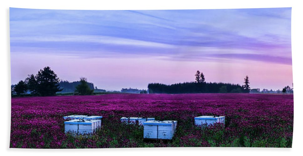 Landscape Beach Towel featuring the photograph Honey In The Making by Steven Clark