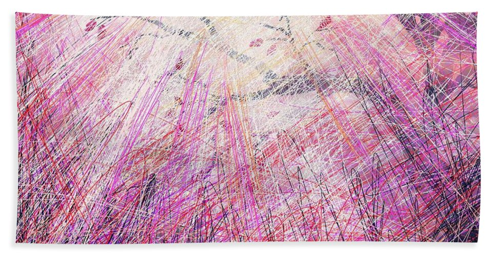 Abstract Beach Towel featuring the digital art Hope by William Russell Nowicki