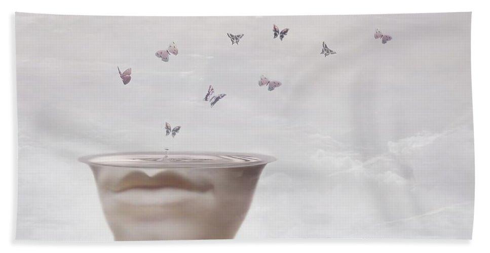 Surreal Beach Towel featuring the digital art Hope Springs Eternal by Jacky Gerritsen