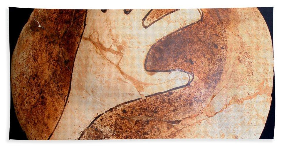 Amerind Beach Towel featuring the photograph Hopi Jar Fragment by Joe Kozlowski