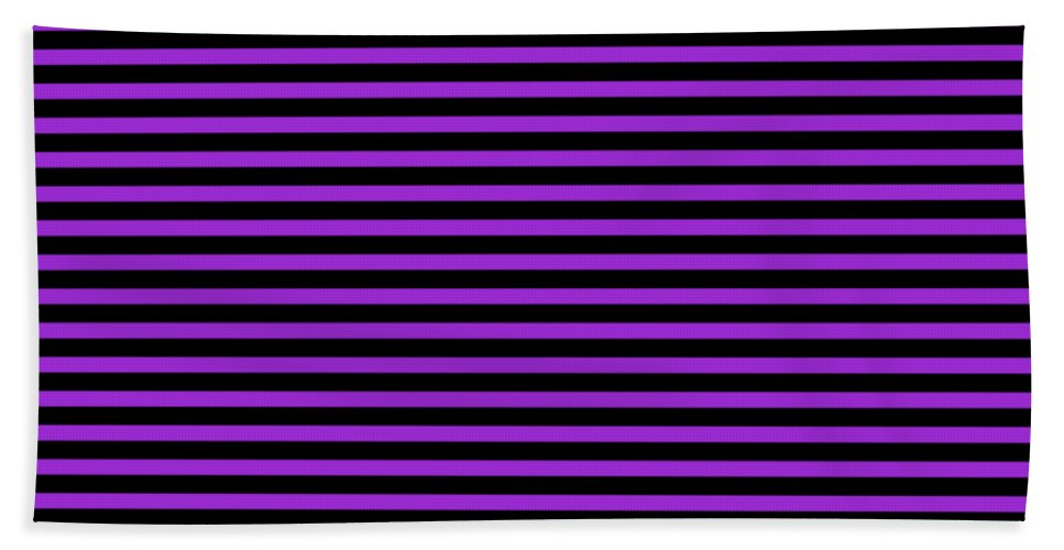 Stripes Beach Towel featuring the digital art Horizontal Black Outside Stripes 30-p0169 by Custom Home Fashions