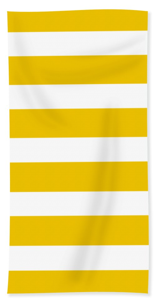 Stripes Beach Towel featuring the digital art Horizontal White Inside Stripes 05-p0169 by Custom Home Fashions