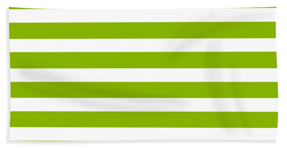 Stripes Beach Towel featuring the digital art Horizontal White Inside Stripes 09-p0169 by Custom Home Fashions
