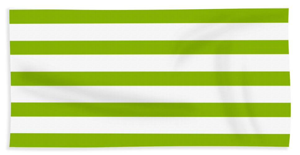 Stripes Beach Towel featuring the digital art Horizontal White Outside Stripes 09-p0169 by Custom Home Fashions