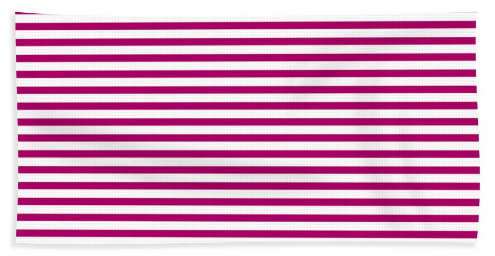Stripes Beach Towel featuring the digital art Horizontal White Outside Stripes 30-p0169 by Custom Home Fashions