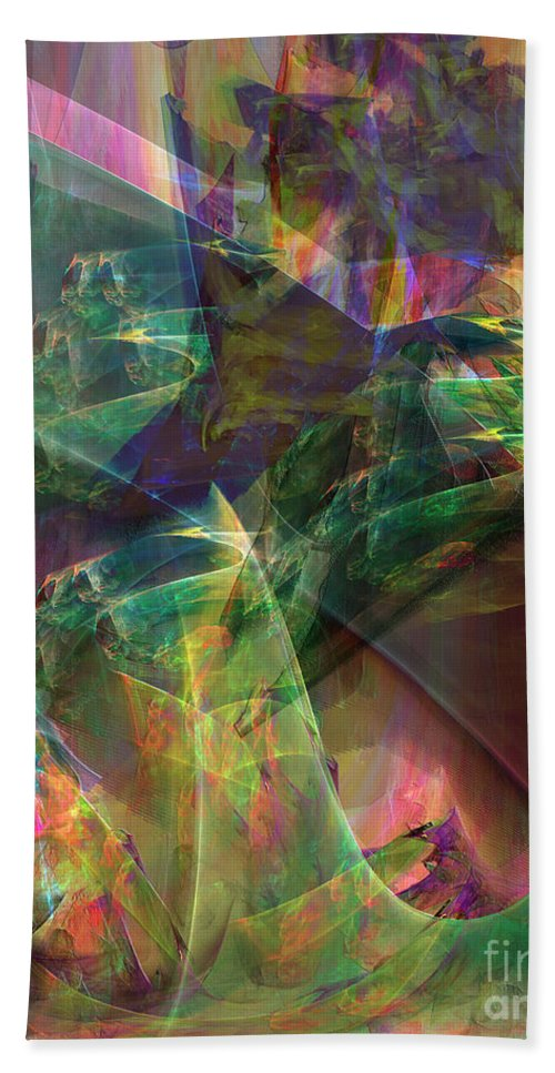 Horse Feathers Beach Towel featuring the digital art Horse Feathers by John Beck