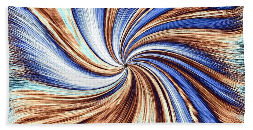 Abstract Beach Towel featuring the digital art Horse Feathers by Will Borden