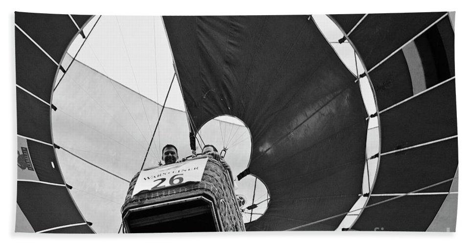 Heiko Beach Towel featuring the photograph Hot-air Balloon by Heiko Koehrer-Wagner