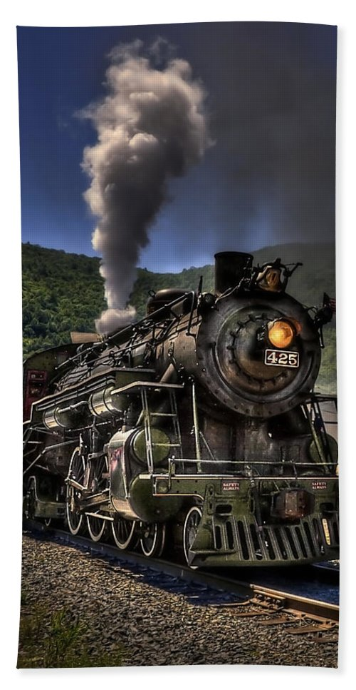 Jim Thorpe Beach Towel featuring the photograph Hot And Steamy by Evelina Kremsdorf