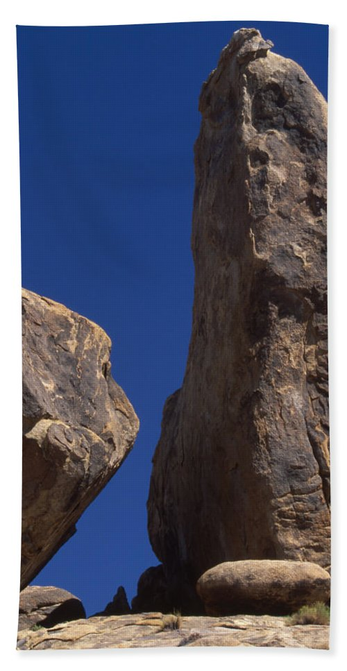 Alabama Hills Beach Towel featuring the photograph Hot Dark Blue Sky - Alabama Hills by Soli Deo Gloria Wilderness And Wildlife Photography