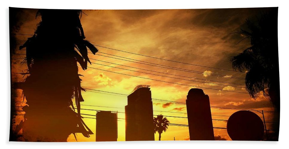 Hot Beach Towel featuring the photograph Hot Day On The Strip by Marisela Mungia