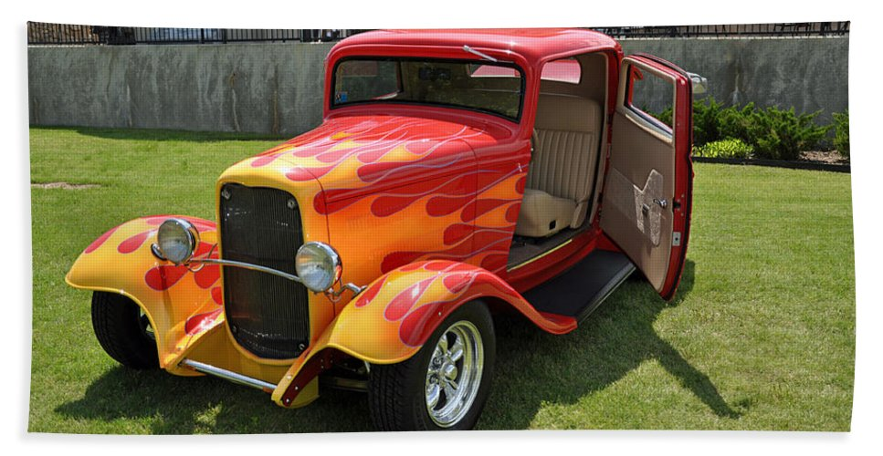 Antique Beach Towel featuring the photograph Hot Rod by Terry Anderson