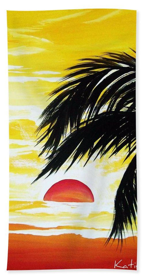 Tropic Beach Towel featuring the painting Hot Tropics by Katie Slaby