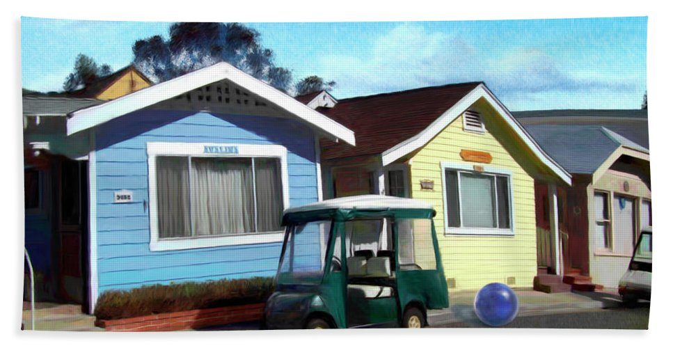 Houses Beach Towel featuring the digital art Houses In A Row by Snake Jagger