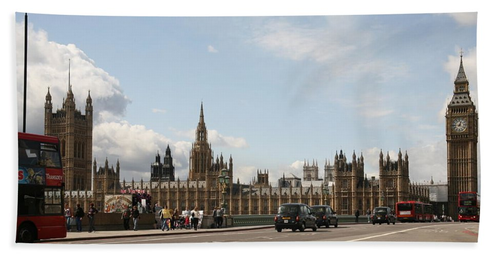 Big Beach Towel featuring the photograph Houses Of Parliament. by Christopher Rowlands