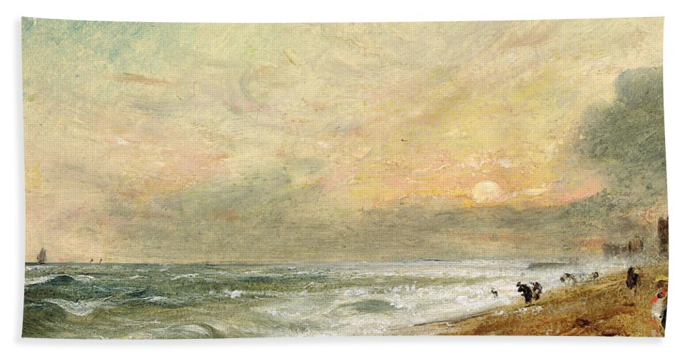 Xyc174465 Beach Towel featuring the photograph Hove Beach by John Constable