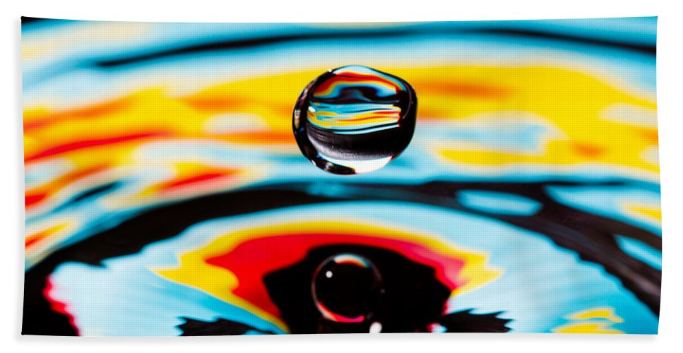 Abstract Beach Towel featuring the photograph Hover II by SR Green