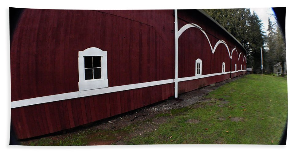 Clay Beach Towel featuring the photograph Huge Barn by Clayton Bruster