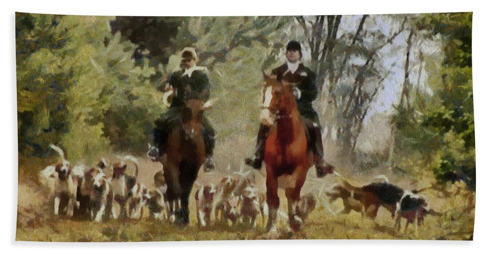 Hunting Dogs For Wild Boar Beach Towel