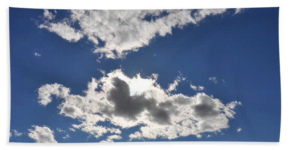 Cloud Beach Towel featuring the photograph Huson River Clouds 1 by Rich Bodane