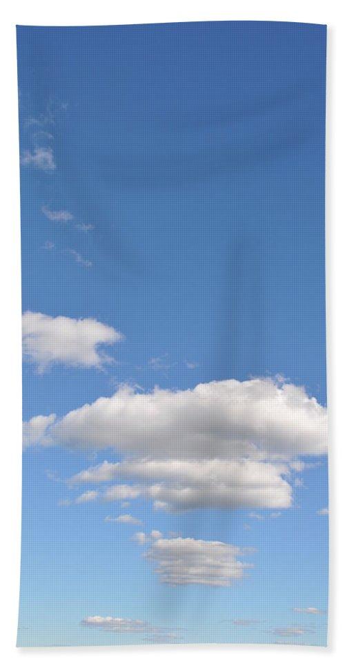 Cloud Beach Towel featuring the photograph Huson River Clouds 3 by Rich Bodane