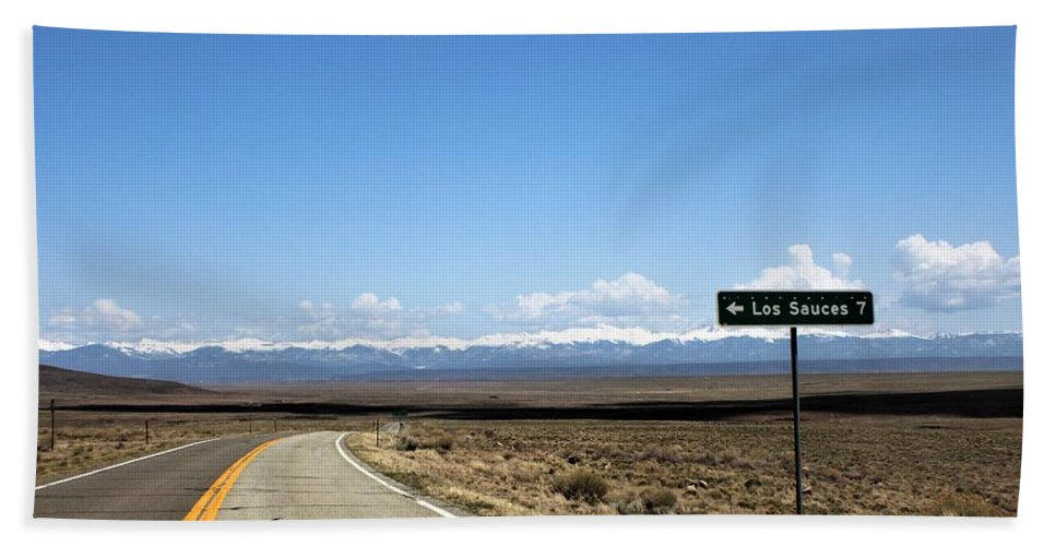 Beach Towel featuring the photograph Hwy 142 Heading To San Luis by Carla Larson