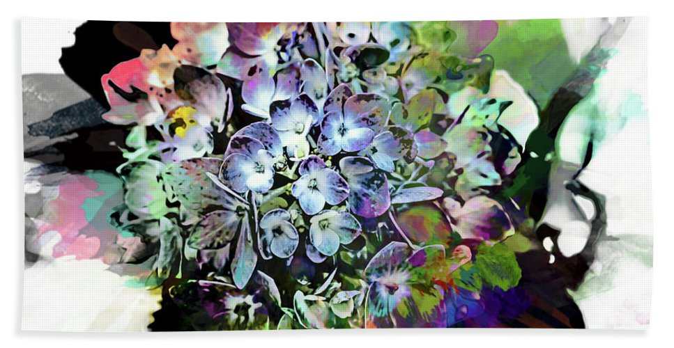 Hydrangea Beach Towel featuring the photograph Hydrangea Abstract by Kay Brewer