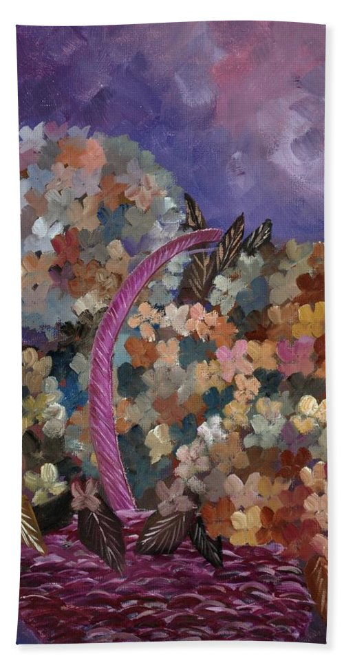 Flowers Beach Towel featuring the painting Hydrangeas 45 by Pol Ledent