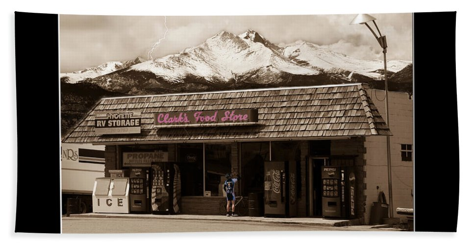 Hygiene Beach Towel featuring the photograph Hygiene Colorado Bw Fine Art Photography Print by James BO Insogna