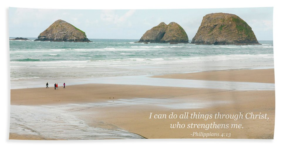 Landscape Beach Towel featuring the photograph I Can Do All Things Through Christ by Kim Warden