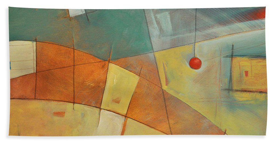 Abstract Beach Towel featuring the painting I Claudia by Tim Nyberg