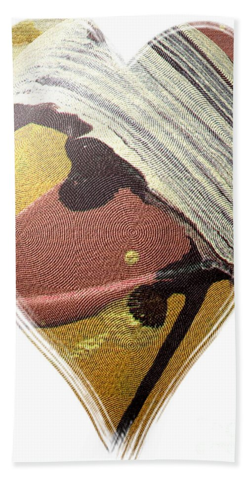Heart Beach Towel featuring the painting I Give You My Heart by Angela L Walker